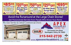 Apex Overhead Doors Coupons Moneymailer