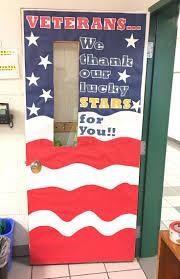 day door decorations november classroom door to honor veteran s day it happened in