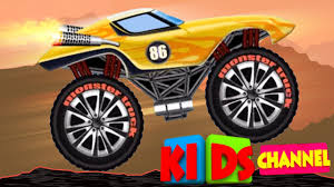 childrens monster truck videos monster truck kids video car race cartoon about cars youtube