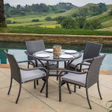 5 Pc Patio Dining Set Best Selling Home Lakeside 5 Wicker Patio Dining Set