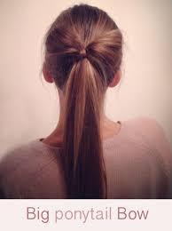 bow hair hairstyle tutorial big ponytail hair bow hair