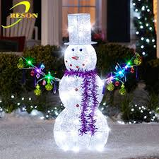outdoor decoration lighted metal snowman buy