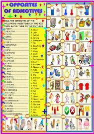 164 free esl opposites worksheets