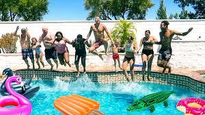 family pool party slyfox family youtube