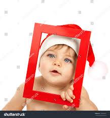 image adorable kid wearing funny santa stock photo 118968724