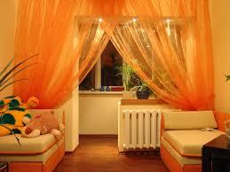 Livingroom Drapes by Orange Sheers Light Living Room Orange Curtains Orange