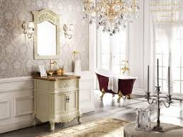 stylish bathroom with soft light and victorian design for classy