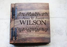 Personalized Wedding Albums Book Unique Wood Wedding Photo Album Monogrammed Personalized