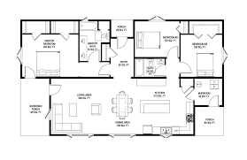 A Floor Plan by Prefab Net Zero Homes Ridgeline Deltec Homes