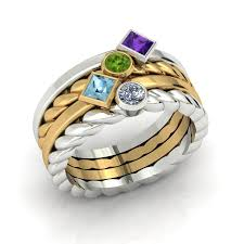 mothers rings stackable two tone custom stackable mothers rings the goldsmiths ltd