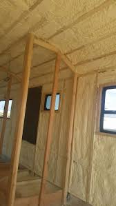 skoolie conversion spray foam insulation bus conversion denver colorado charles