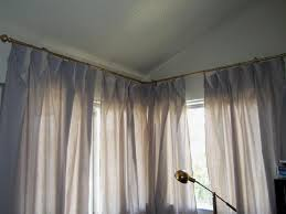 installing curtain rods for corner windows incredible home decor