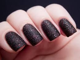 nail art popular black nailish designs with nice ideas matte