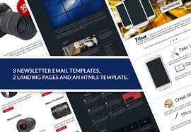 web design mini bundle html5 template landing pages u0026 newsletter