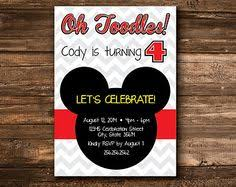 oh toodles mickey mouse clubhouse birthday invitation hostess