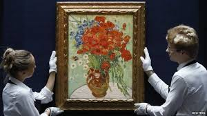 Vase With Red Poppies Van Gogh Floral Still Life Sold For 61 8m 38 7m Bbc News