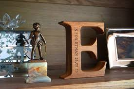 Handmade Wooden Gifts - engraved wooden alphabet letters makemesomethingspecial