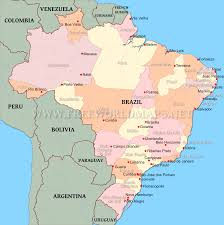 South Africa Political Map by Brazil Physical Map