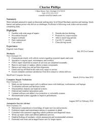 resume template entry level resume templates entry level automotive technician exles best