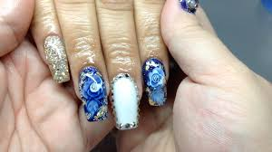 nail art bling coffin nail art style work shaped for nails