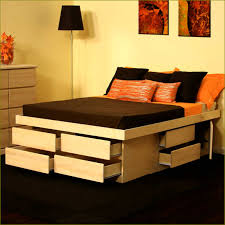 King Size Platform Bed Frame With Storage Plans by King Size Bed Frame With Storage Drawers Plans Storage Decorations