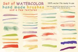 watercolor brushes and textures brushes creative market