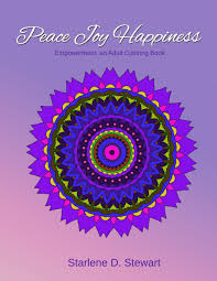 amazon com peace joy happiness an coloring book