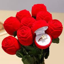red rose rings images Romantic ring case for girlfriend gift red rose shape valentine 39 s jpg