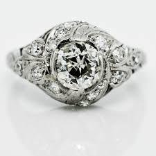 art deco dome filigree diamond ring claude morady estate jewelry