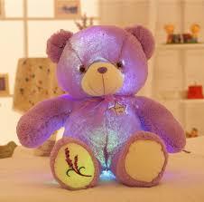 50cm tall large luminous plush toy teddy bear led plush toy doll
