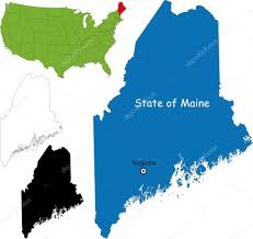 Maine State Usa Map by Maine Map U2014 Stock Vector Volina 32456203