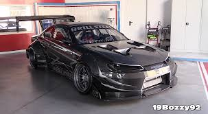 widebody demon carbon fiber wide body ls3 powered nissan silvia s14 5