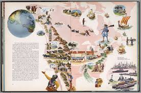Map Of Alaska And Canada by Canada Alaska And Greenland Continues Pictorial Map David