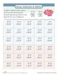 adding money worksheets math aids com pinterest money