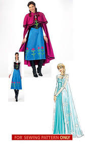 Elsa Frozen Halloween Costume Sewing Pattern Frozen Costume Disney Princess Anna
