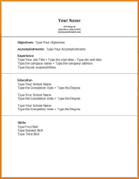 My First Resume Template Resume Templates For First Job Resume Template For High