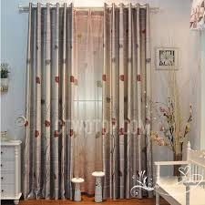 Cheap Grey Curtains Forest Style Leaf Grey Cheap Thermal Curtains