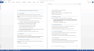 36 page standard operating procedure sop template ms word