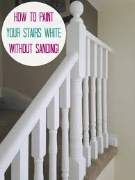 Painting A Banister White June 2015 Before And After Oak Stairs Chalk Paint And Staircases