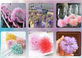 Flower Decorations For Hair High Quanlity Tulle Wedding Decorations For Table Skirt Hair