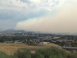 Wildfire Near Markleeville Ca by Poor Air Quality In Reno Nevada Smoke From A Distant Fire From