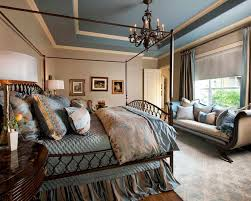 bedroom charming blue and brown velvets in traditional master