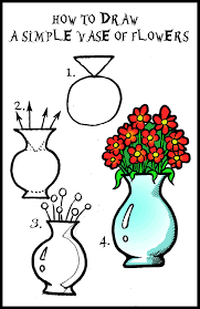 A Flower Vase How To Draw Flowers Step By Step With Pictures Laura Williams