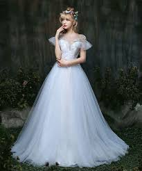 wedding dress high neck 2017 fairy wedding dress high neck a line tulle cap sleeves