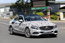 the all mercedes c class spyshots all mercedes c class coupe shows panoramic roof