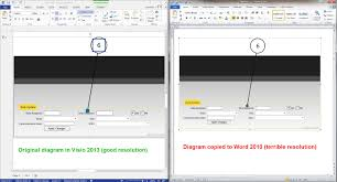 losing image resolution when copying from visio to word