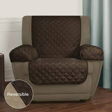 slipcover for recliner chair mainstays reversible microfiber fabric pet furniture recliner chair