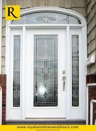 full glass entry door single entry door white finish transom designer glass elmont