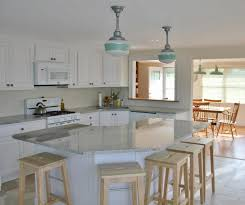 kitchen modern island lighting wooden varnished kitchen island