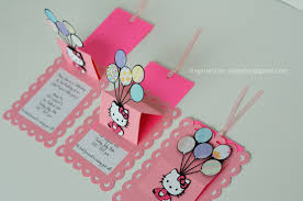 How To Make Baby Shower Invitation Cards Silhouette Cameo Handmade Hello Kitty Pop Up Baby Shower Birthday
